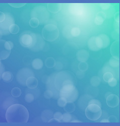 bokeh texture on a two-tone blue-green background vector image