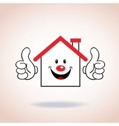 House symbol mascot cartoon character vector image vector image