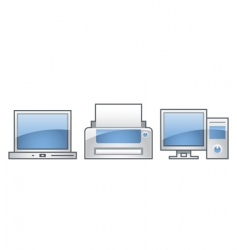 office icons collection vector image vector image