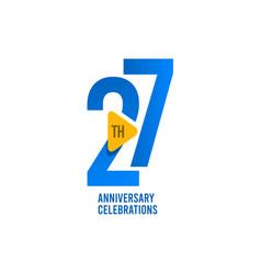 27 years anniversary celebration template design vector