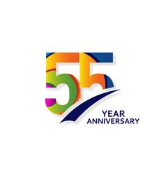 55 years elegant anniversary celebration template vector