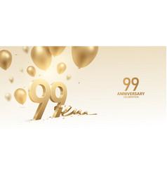 99th anniversary celebration background vector
