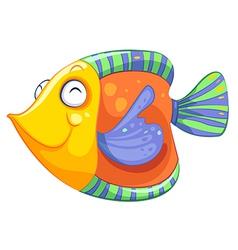 A happy fish vector image