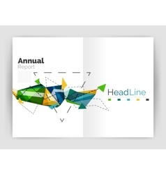 Abstract background annual report template vector image
