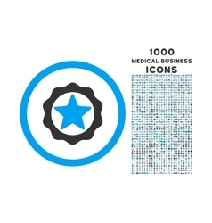 Award seal rounded icon with 1000 bonus icons vector