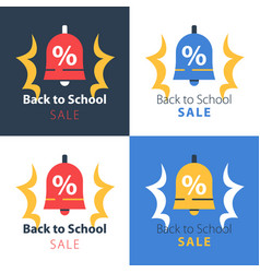 back to school season sale ringing bell vector image