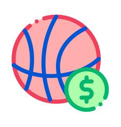 basketball ball betting and gambling icon vector image
