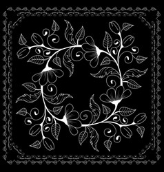 black and white bandana vector image