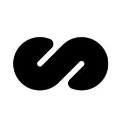 Black infinity symbol icon concept infinite vector