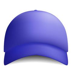 blue baseball cap icon realistic style vector image