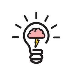 brain storming2 resize vector image