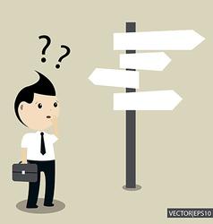 Businessman choice vector