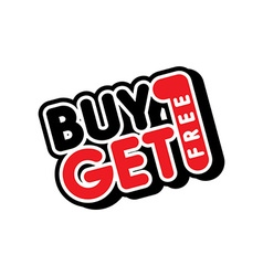 Buy one get free sale promo vector