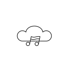 cloud music icon vector image