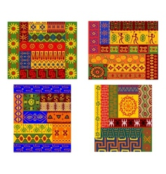 Colorful African ethnic patterns vector