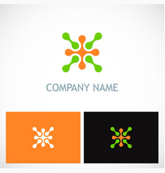 connect abstract technology company logo vector image