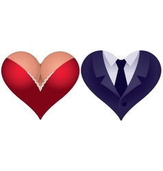 Couple hearts vector