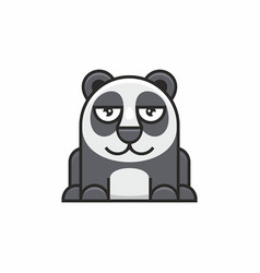 cute panda icon on white background vector image vector image