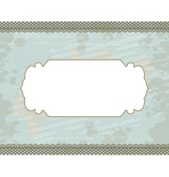cyan blot frame background vector image