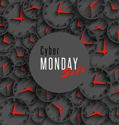 Cyber monday sale banner mockup special promo vector image