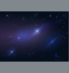 Dark starry sky space background vector