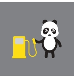 Flat icon on gray background panda cartoon vector