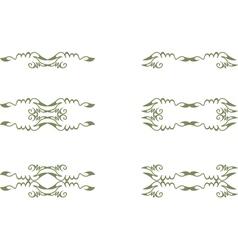 floral vintage element vector image