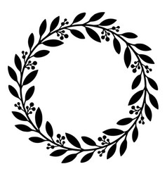floral wreath flower wedding frame or decoration vector image