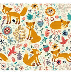 Foxy pattern vector image