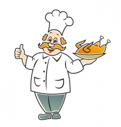 funny cook vector image