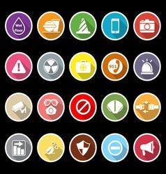 General useful icons with long shadow vector image