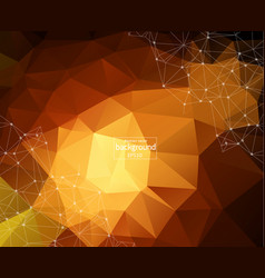 geometric dark red polygonal background molecule vector image