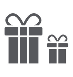 gift boxes glyph icon package and surprise vector image