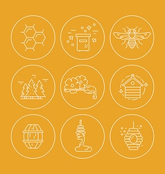 Honey Icons in Circles vector