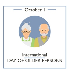 International Day of Older Persons vector