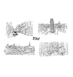 italy streets collection sketch for your design vector image