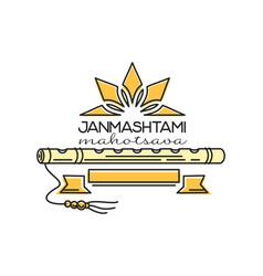 Janmashtami mahatsava design hindu festival vector