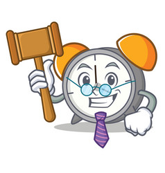 Judge alarm clock mascot cartoon vector