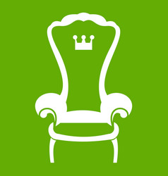 king throne chair icon green vector image
