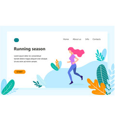 landing page template of healthy lifestyle vector image