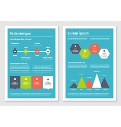 Modern business infographic brochure template 3 vector image