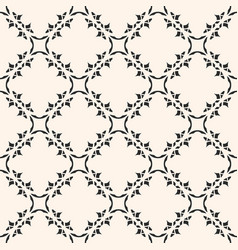 Monochrome ornamental seamless pattern mosaic vector
