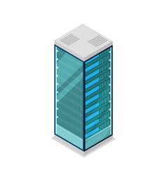 Network server rack isometric 3d icon vector