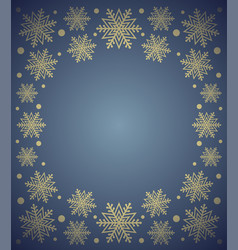New year background card with snowflake blue vector