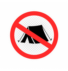 no camping set sign icon symbol vector image