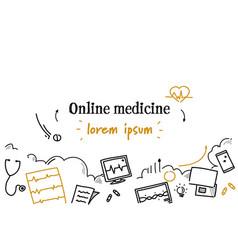 online medicine medical doctor consultation vector image