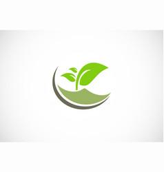 Plant green leaf organic logo vector