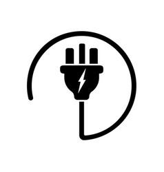 Power plug or uk electric plug electricity symbol vector