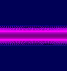 Retro 1980s synthwave glowing neon lights plane vector