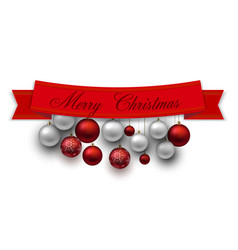 ribbons labels tags merry christmas and happy vector image